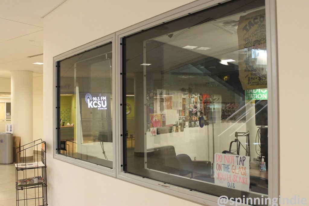 View of college radio station KCSU from the Lory Student Center. Photo: J. Waits