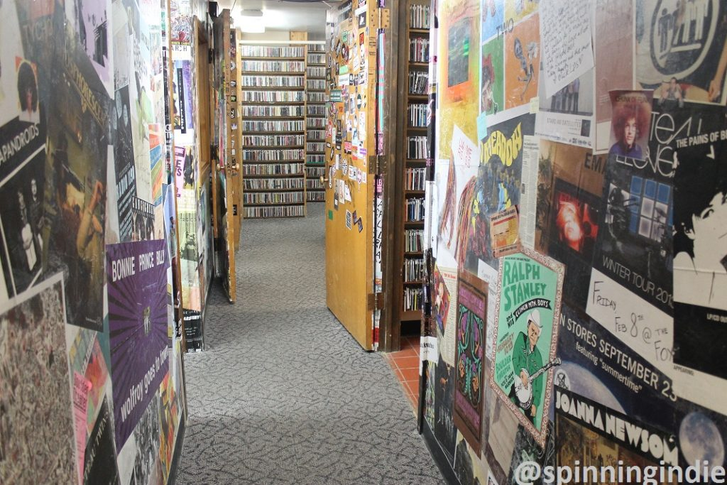 Hallway and CDs at Radio 1190. Photo: J. Waits