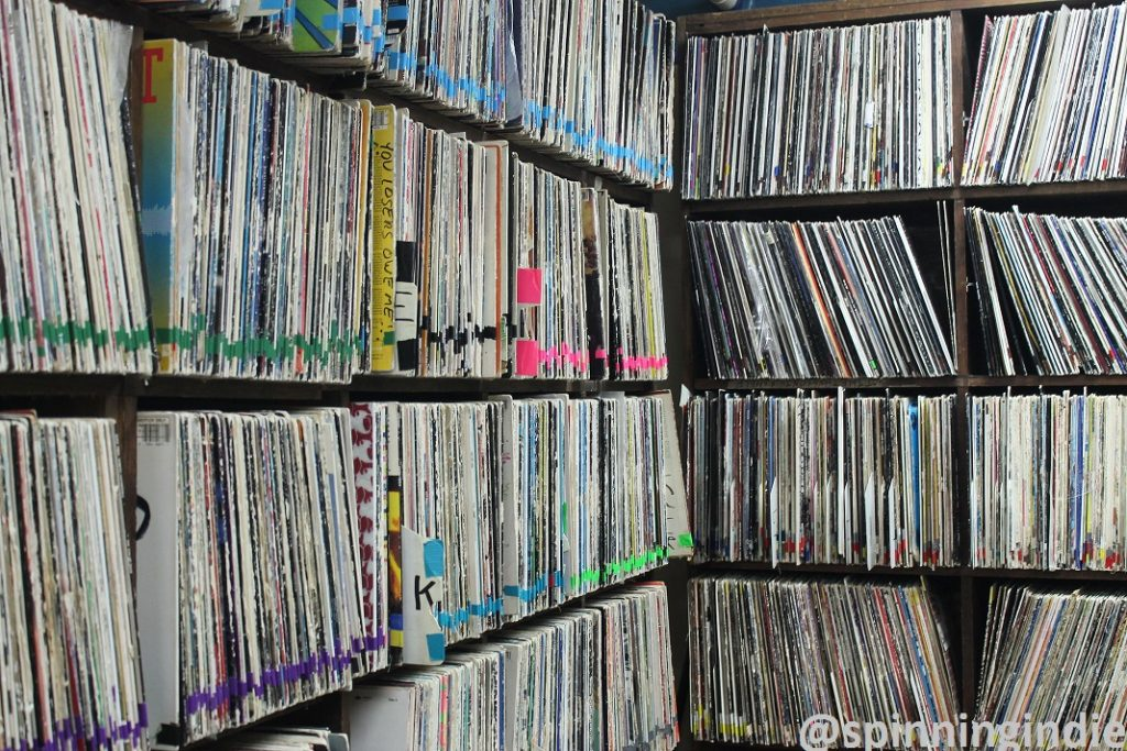 Vinyl records at college radio station Radio 1190. Photo: J. Waits