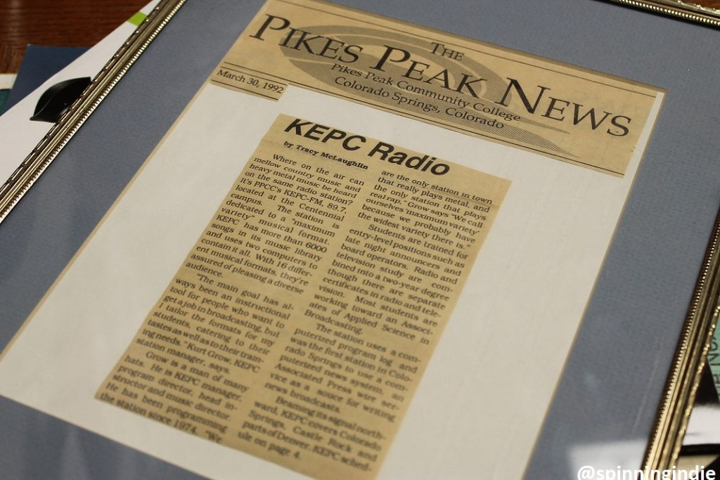 1992 Pikes Peak News article about KEPC. Photo: J. Waits