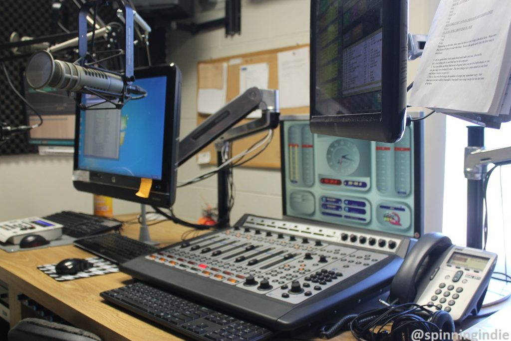 On-air studio at KEPC. Photo: J. Waits