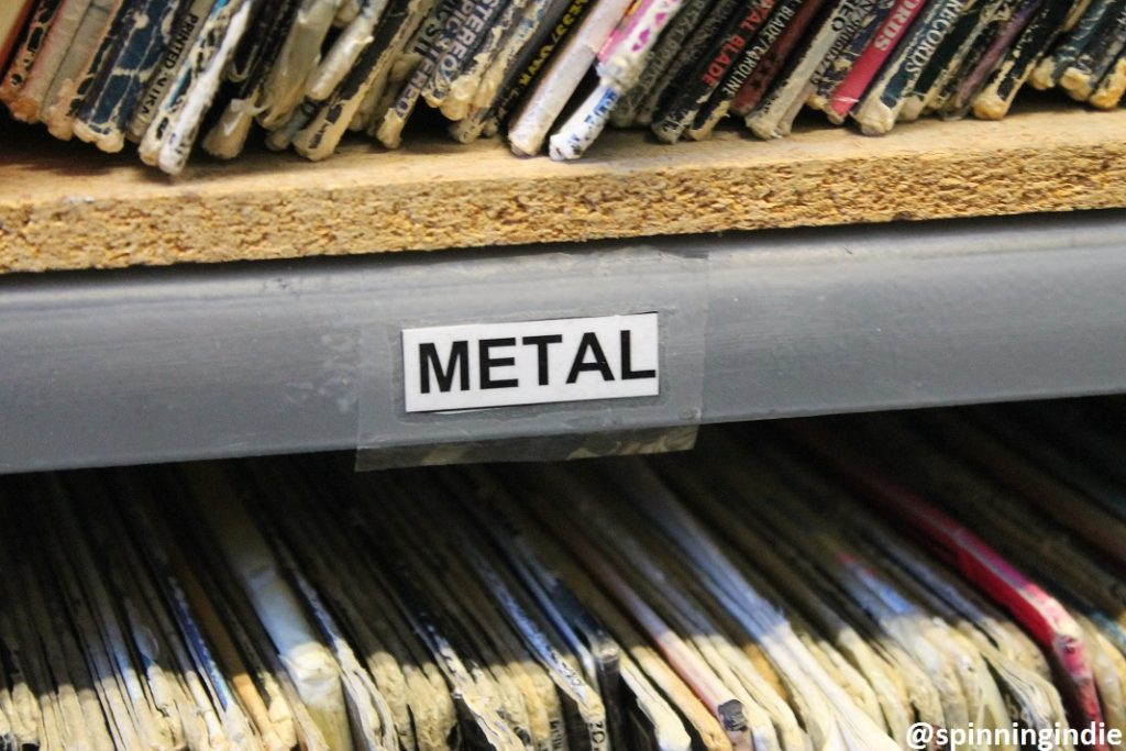 Metal LPs at KUCI. Photo: J. Waits