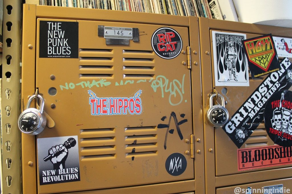 Lockers at KUCI. Photo: J. Waits