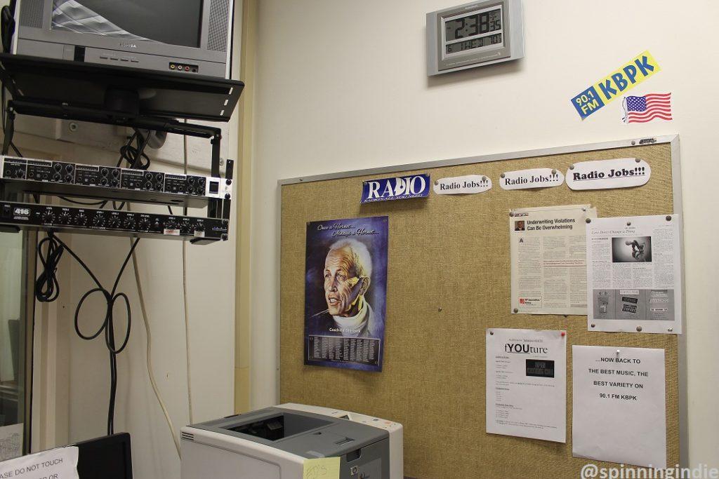Jobs board at KBPK. Photo: J. Waits
