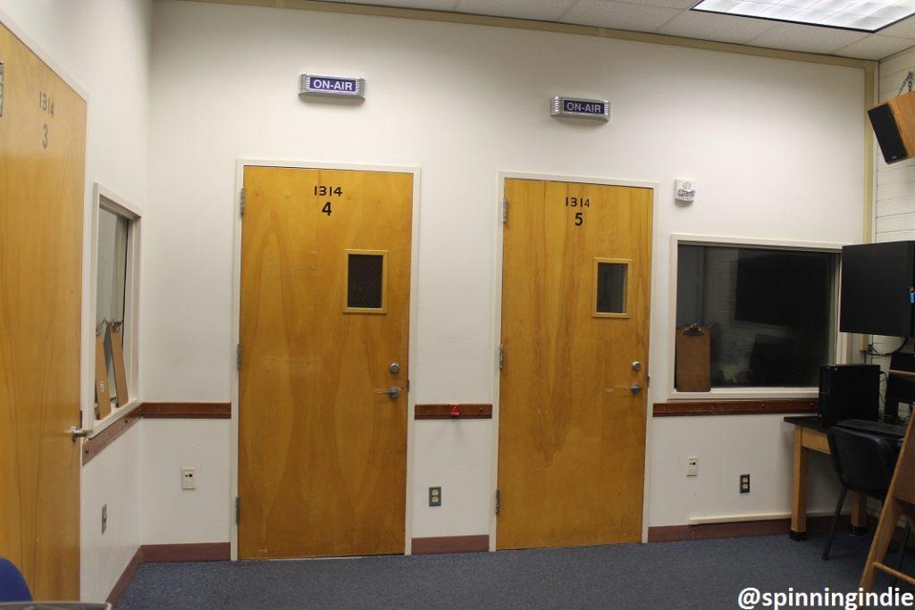 Entrances to studios at KBPK. Photo: J. Waits