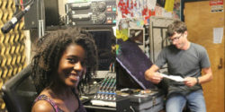 College Radio Station General Managers Eboni Statham and Mikey Goldenberg