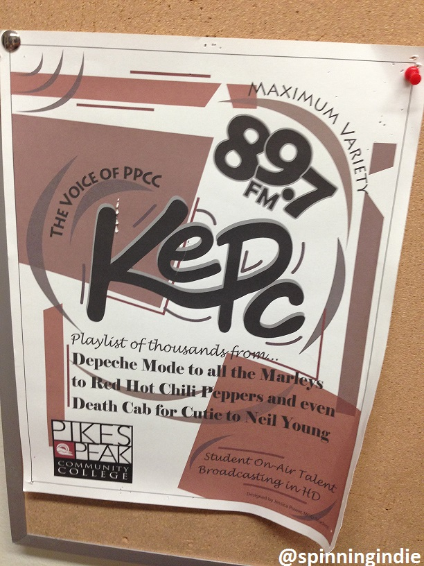 KEPC flyer posted at the college radio station. Photo: J. Waits