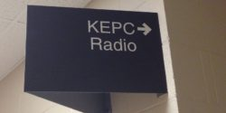 KEPC sign at the college radio station. Photo: J. Waits