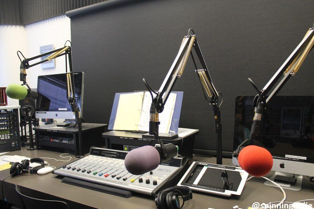 WCAS studio. Photo: J. Waits
