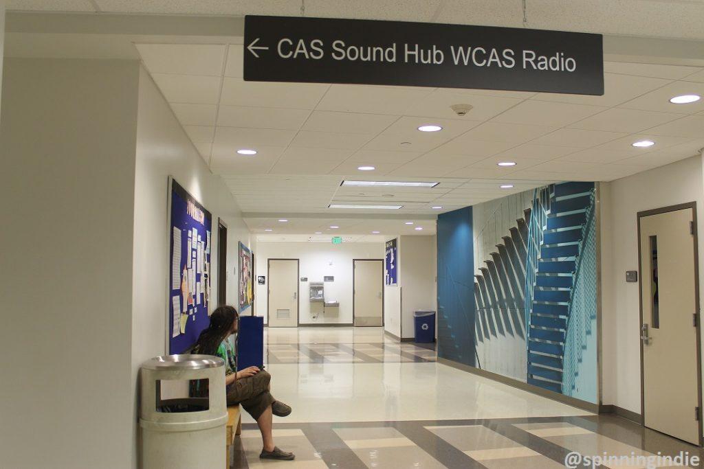 Just outside entrance to WCAS Radio. Photo: J. Waits