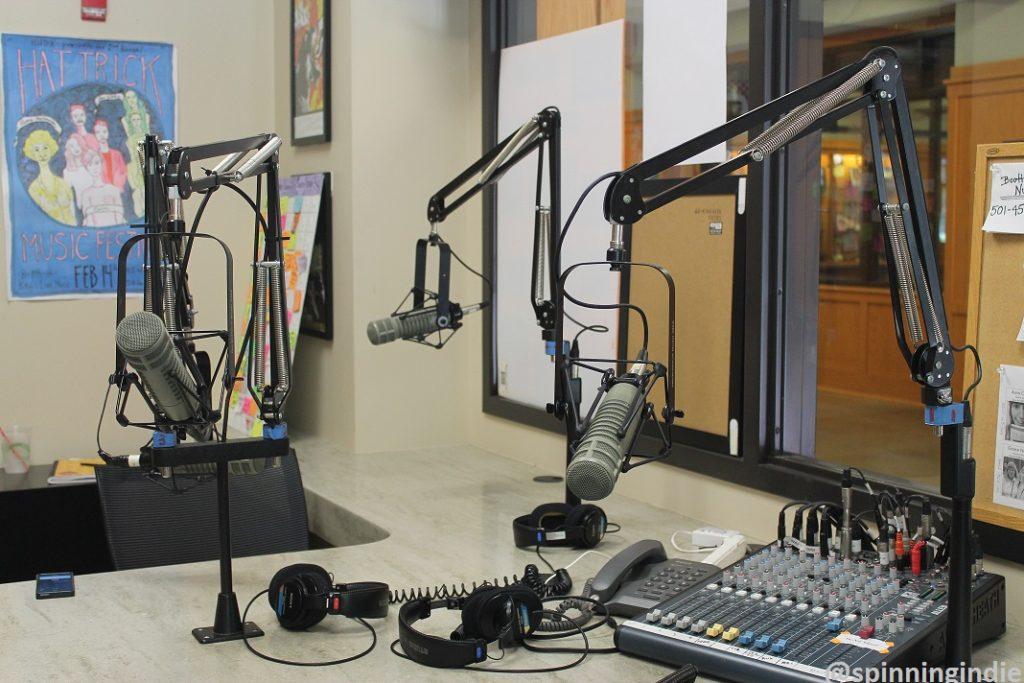 College radio station KHDX. Photo: J. Waits