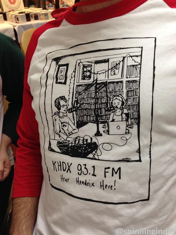 KHDX t-shirt at GRC conference. Photo: J. Waits