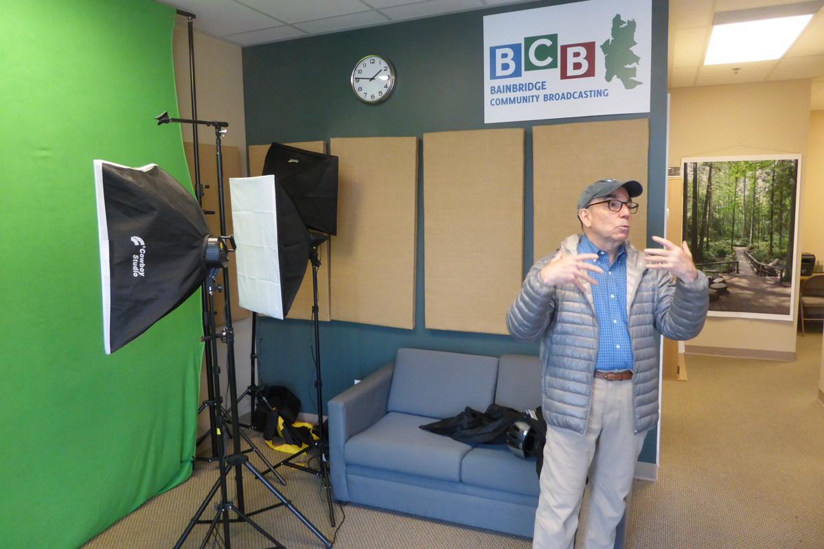 Barry Peters shows off the BCB video studio