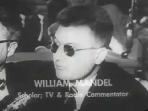 William Mandel at the San Francisco HUAC hearing