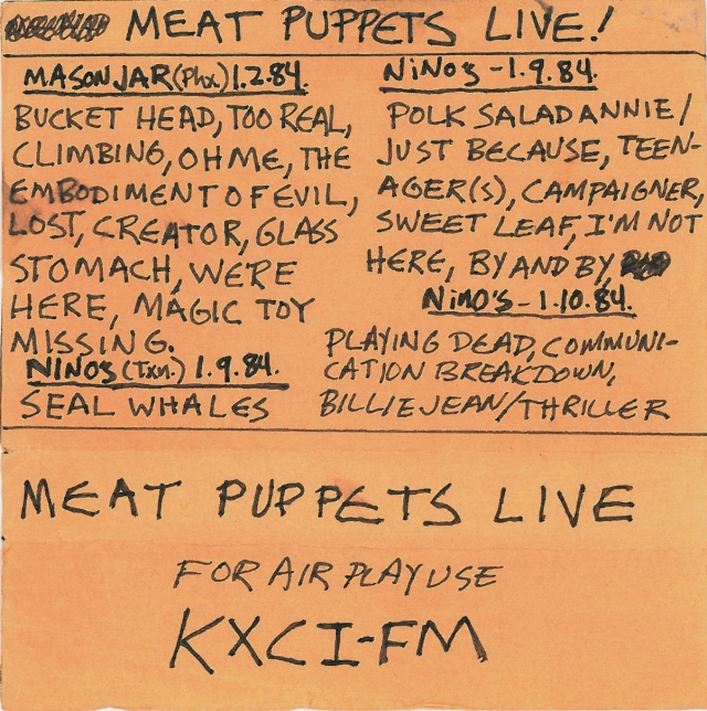 Meat Puppets LIVE!