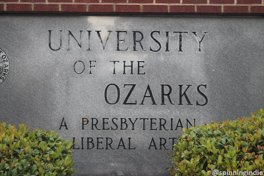 Sign at University of the Ozarks. Photo: J. Waits