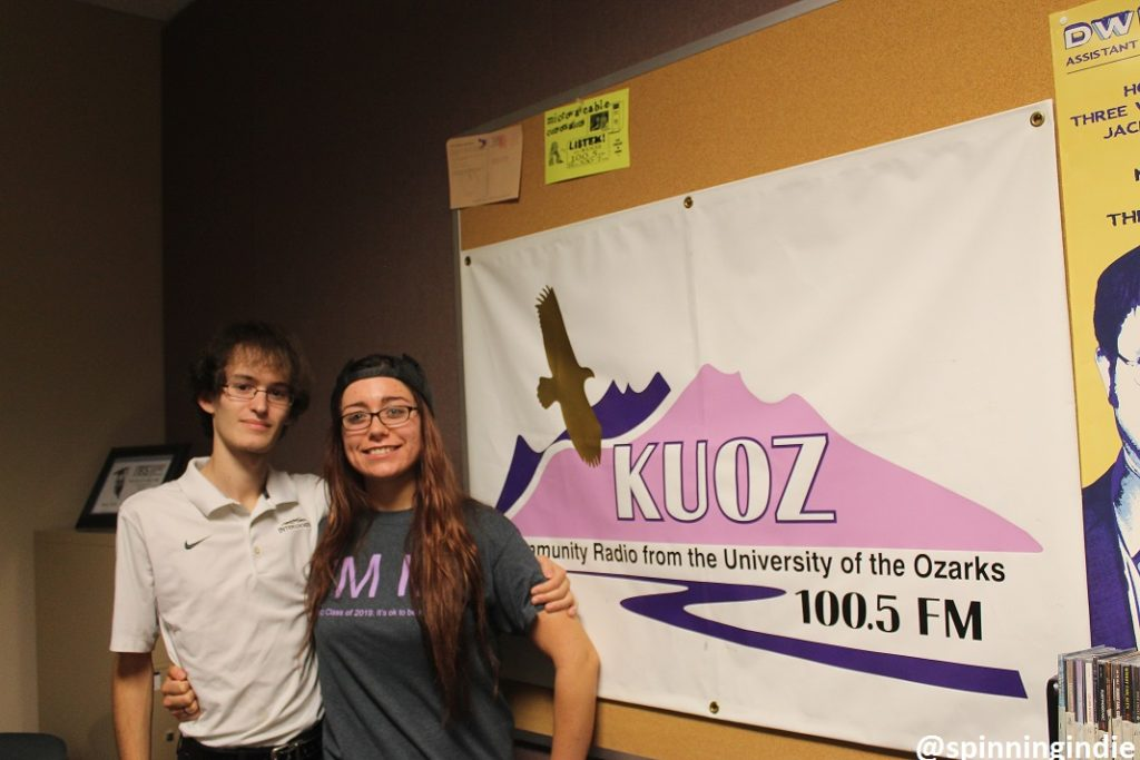 Corbin Sturch and Anna Fisk in the KUOZ-LP studio. Photo: J. Waits