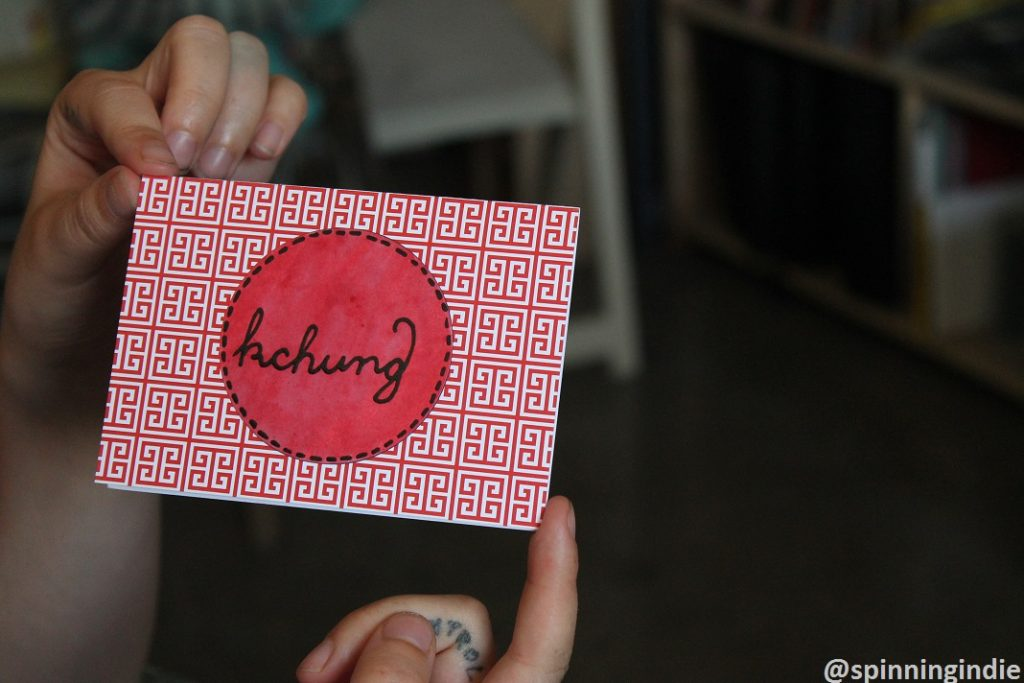 KCHUNG card. Photo: J. Waits