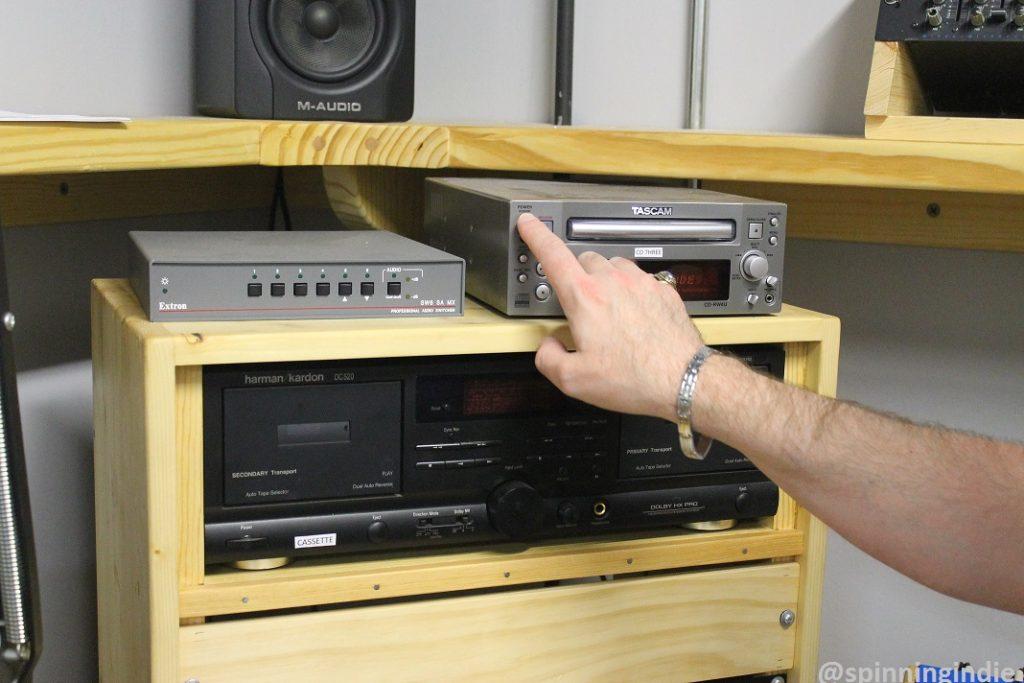 Equipment on KPSQ-LP studio. Photo: J. Waits