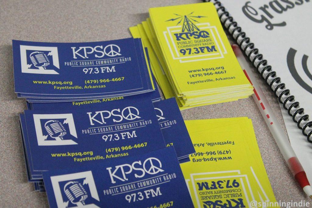 Promotional materials at KPSQ-LP. Photo: J. Waits