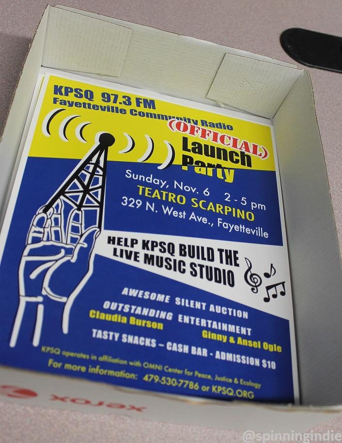 Poster for KPSQ-LP's launch party. Photo: J. Waits