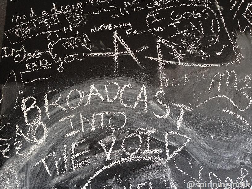 Chalkboard messages at KCHUNG. Photo: J. Waits