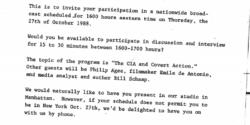 WBAI to CIA