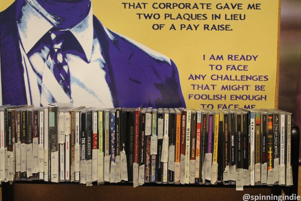 CDs at KUOZ-LP. Photo: J. Waits
