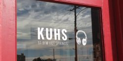 Entrance to LPFM community radio station KUHS-LP. Photo: J. Waits