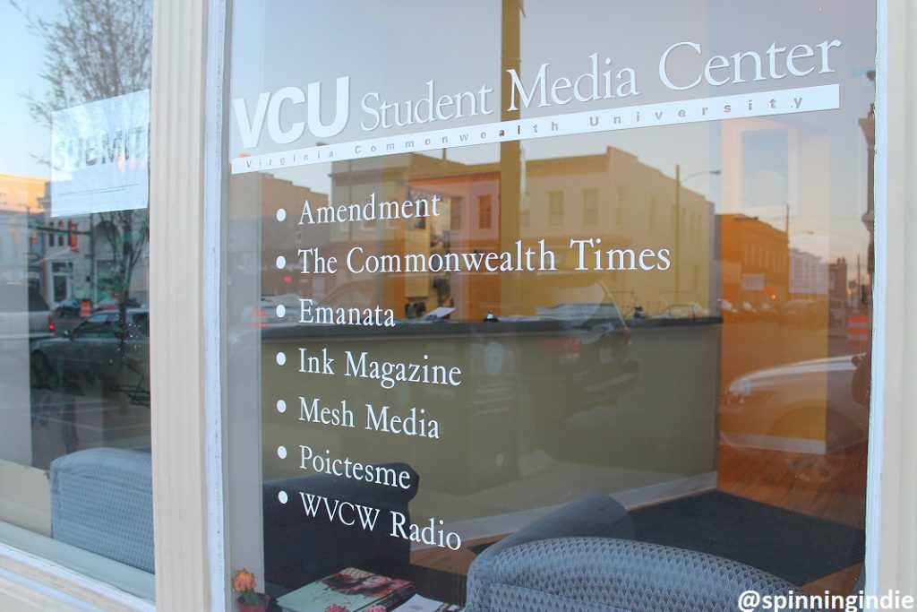 Entrance to VCU Student Media. Photo: J. Waits