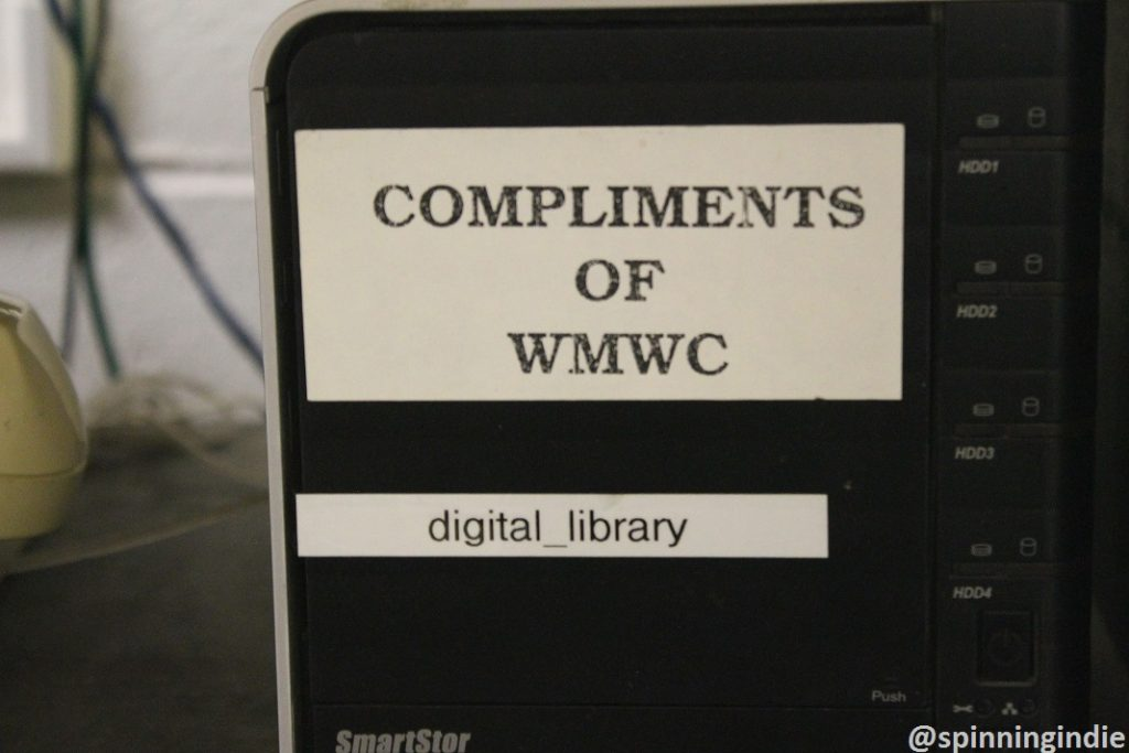 WMWC digital library. Photo: J. Waits