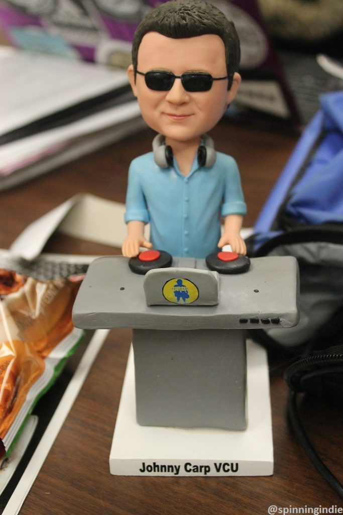 Custom bobblehead of WVCW staffer. Photo: J. Waits