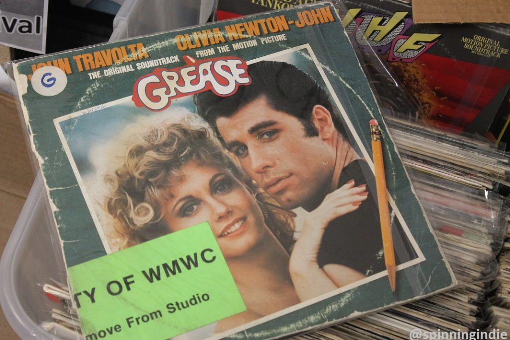 Vinyl LPs at WMWC. Photo: J. Waits
