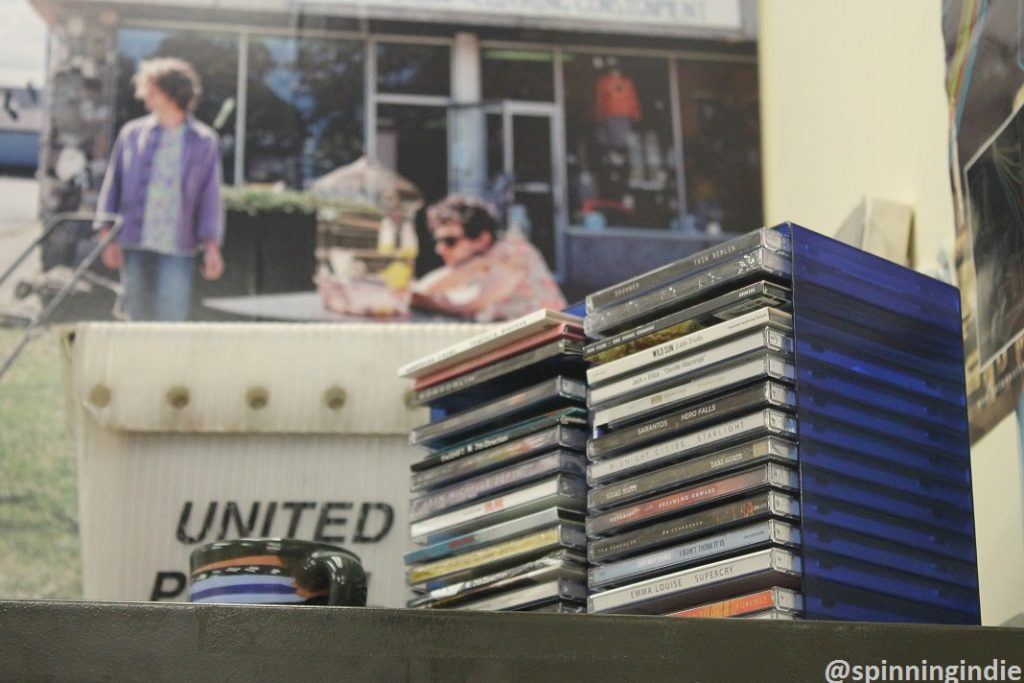 CDs in WVCW lobby. Photo: J. Waits