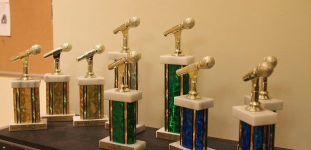 IBS college radio awards on display at Virginia Commonwealth University. Photo: J. Waits
