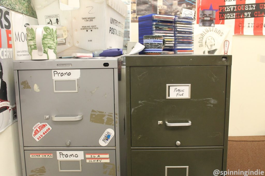 File cabinets at WVCW. Photo: J. Waits