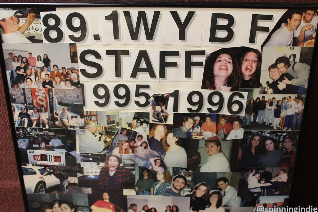 Photo collage from 1995-1996 WYBF staff. Photo: J. Waits
