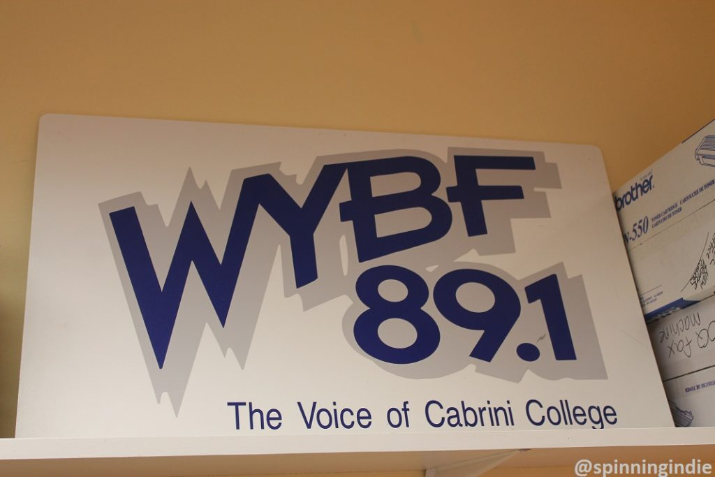 WYBF sign in station office. Photo: J. Waits