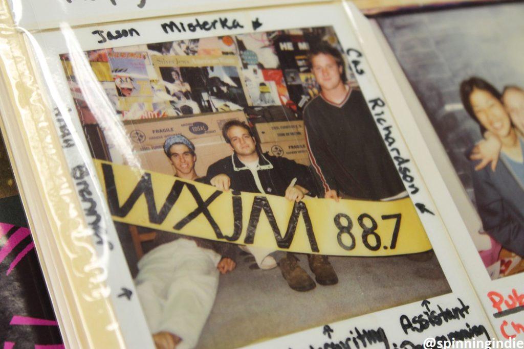 Photo albums at WXJM. Photo: J. Waits