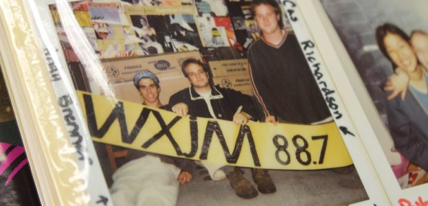 Photo albums at college radio station WXJM. Photo: J. Waits