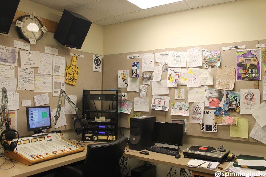 On-air studio at WXJM. Photo: J. Waits