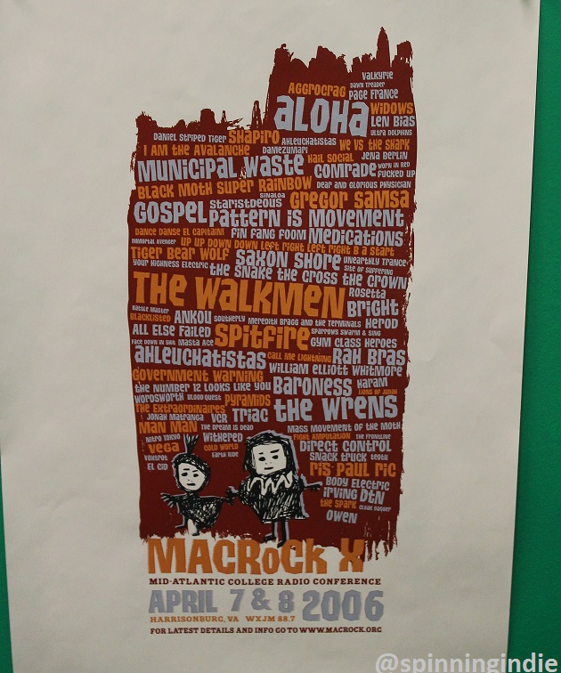 Poster from 2006 MACRoCk. Photo: J. Waits