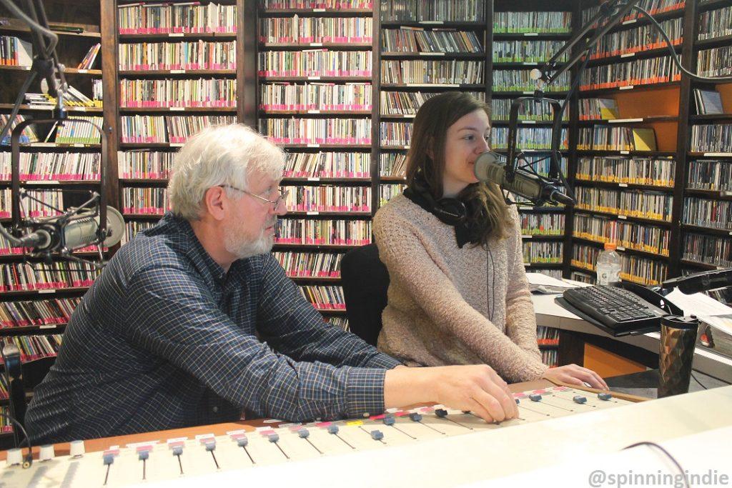 DJs on the air at community radio station WRIR-LP. Photo: J. Waits