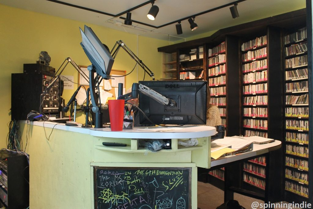 WRIR's on-air studio. Photo: J. Waits