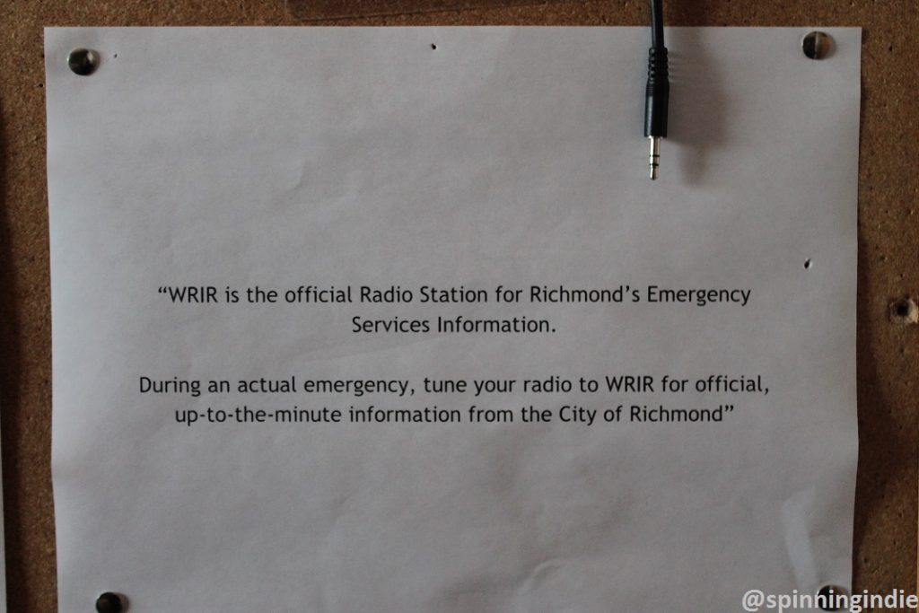 WRIR is an official emergency broadcast outlet for Richmond. Photo: J. Waits