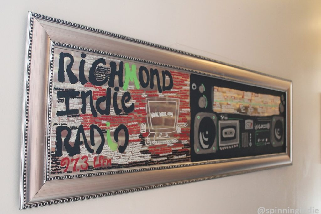 Richmond Indie Radio sign at WRIR. Photo: J. Waits