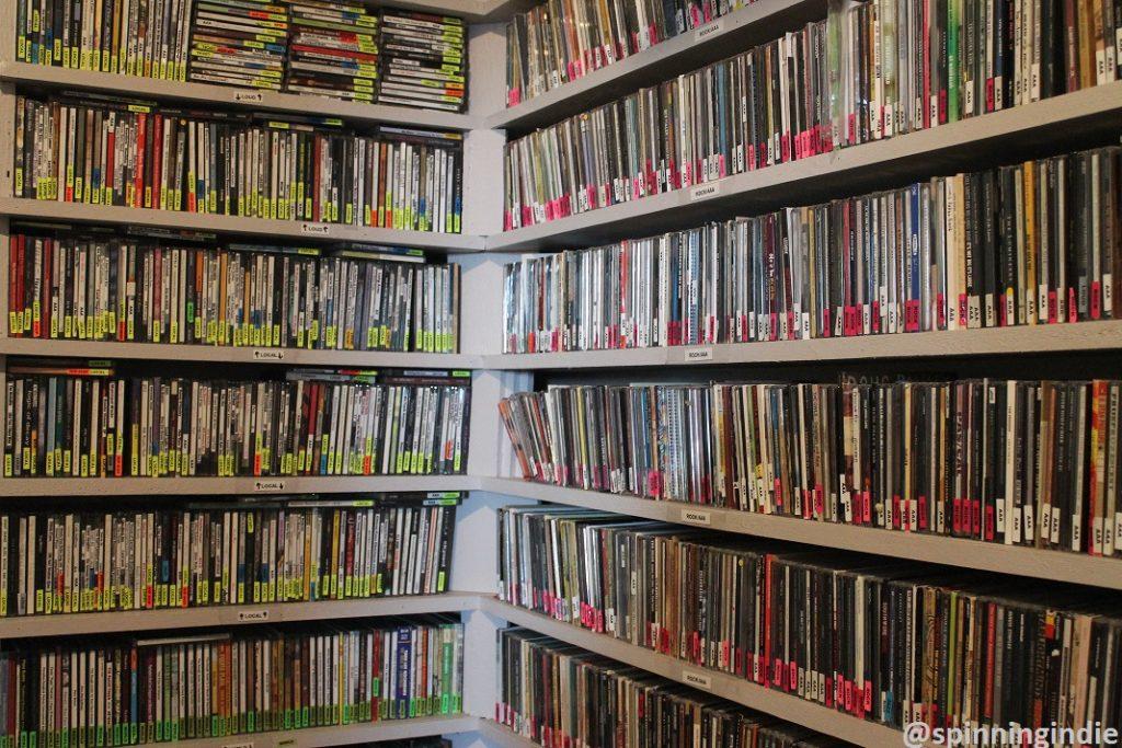 CD library at WRIR. Photo: J. Waits