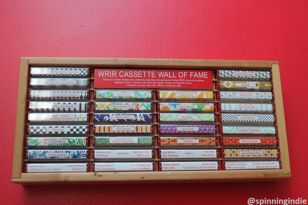 WRIR cassette wall of fame. Photo: J. Waits