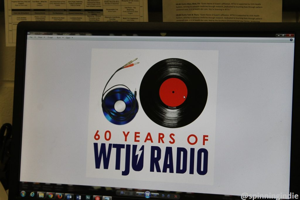 Prototype of 60th anniversary WTJU logo that Nathan Moore was working on. Photo: J. Waits