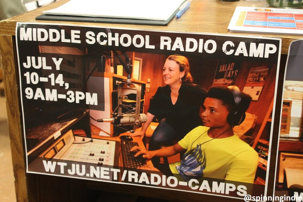 Flyer for WTJU radio camp. Photo: J. Waits